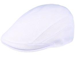 Tropic 507 White Flat Cap - Kangol