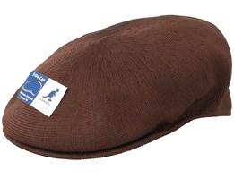 Tropic 504 Brown Flat Cap - Kangol