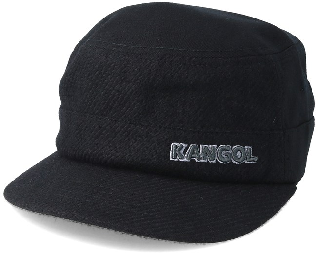 Textured Wool Army Cap Black Flexfit - Kangol lippis - Hatstore.fi 9d90cc8648