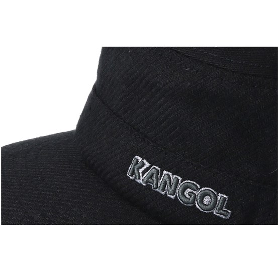 Textured Wool Army Cap Black Flexfit - Kangol