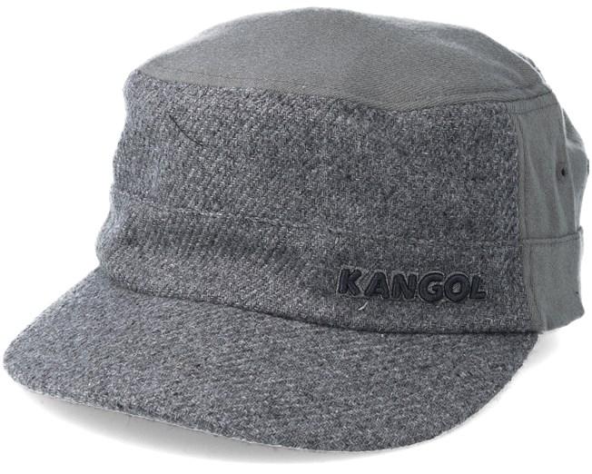 Textured Wool Army Cap Flanell Grey Flexfit - Kangol caps  b8b9f3916eb3