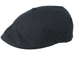 Ripstop Flexfit 504 Black Flat Cap - Kangol