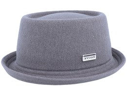 Wool Mowbray Slate Grey Pork Pie - Kangol