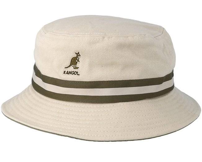 9f03633da6b5d Stripe Lahinch Beige Bucket - Kangol hats - Hatstoreaustralia.com