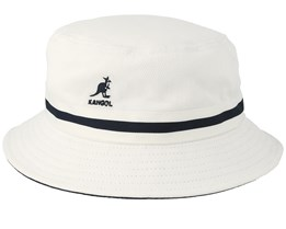 Stripe Lahinch White Bucket - Kangol