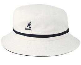 Stripe Lahinch White Bucket - Kangol