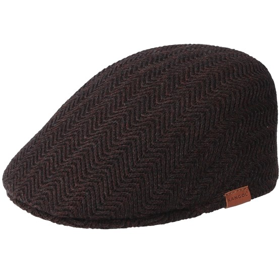 Keps Herringbone Americano Flat Cap - Kangol - Röd Flat Caps