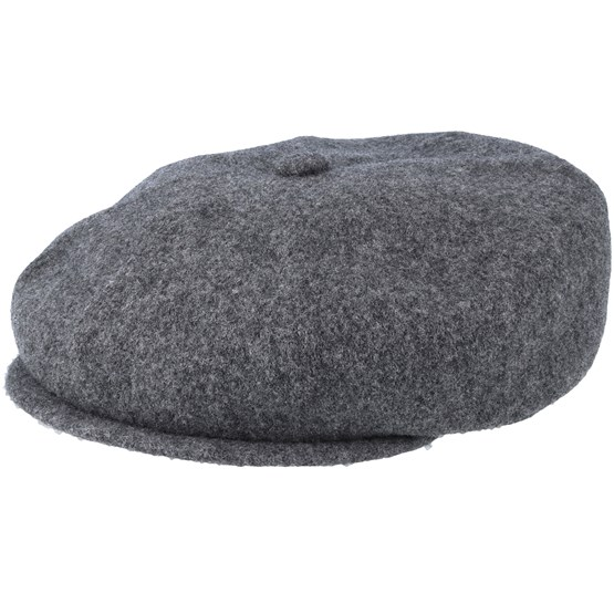 Keps Wool Hawker Flanel Grey - Kangol - Grå Flat Caps