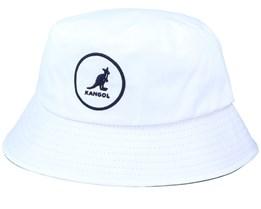 Cotton Bucket White/Navy Bucket - Kangol