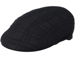 Rib Check 504 Black Flat Cap - Kangol