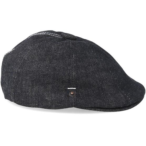 d924ab256eba9 Denim Stitch Hawker Black Flat Cap - Kangol caps - Hatstoreworld.com