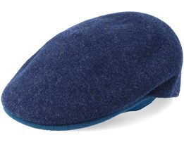 Wool Navy Flat Cap - Kangol