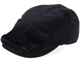 Cord Cap Black Flat Cap - Kangol