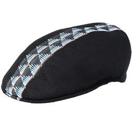 1c0ef8a4a Argyle Stripe 504 Black Flat Cap - Kangol
