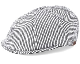 Pattern 6 Panel Cap Seersucker Stripe Flat Cap - Kangol