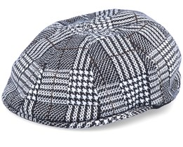 Pattern Flexfit Black/White Flat Cap - Kangol