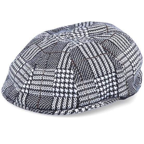 Keps Pattern Flexfit Black/White Flat Cap - Kangol - Svart Flat Caps