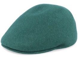 Seamless Wool 507 Dark Green Flat Cap - Kangol