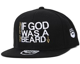 If God Black/White Snapback - Bearded Man