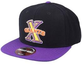 Cuban X-Giants 400 Series Black & Purple Snapback - American Needle