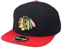 Chicago Blackhawks Chicago Blackhawks 400 Series Black/Red Snapback - American Needle