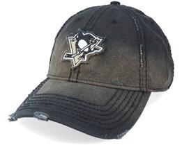Pittsburgh Penguins Nero Logo Black Dad Cap - American Needle