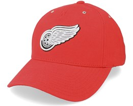 Detroit Red Wings Brushed Canvas Red Adjustable - American Needle