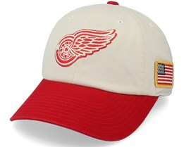 Detroit Red Wings United Slouch Ivory/Red Dad Cap - American Needle