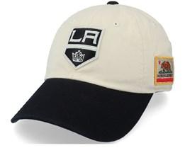 Los Angeles Kings Los Angeles Kings United Slouch Ivory & Black Dad Cap - American Needle