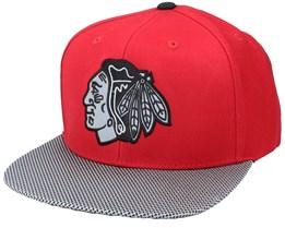 Chicago Blackhawks Chromel Red/Spec Fabric/Black Snapback - American Needle