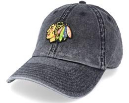 Chicago Blackhawks Elston Black Dad Cap - American Needle