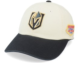 Vegas Golden Knights United Slouch Ivory/Black Dad Cap - American Needle