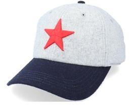 Detroit Stars Archive Legend Heather Gray & Navy Dad Cap - American Needle