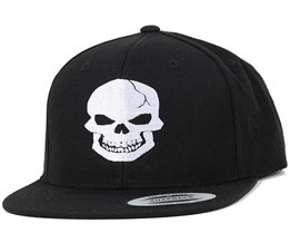 Skull Black/White Snapback - Iconic