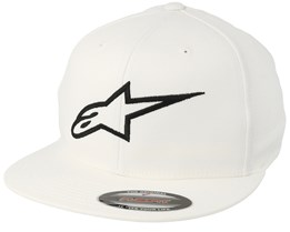 Ageless Flatbill White/Black Fitted - Alpinestars