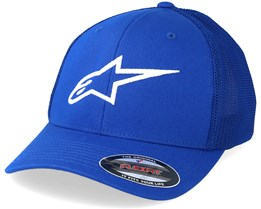 Ageless Stretch Mesh Royal/White Flexfit - Alpinestars