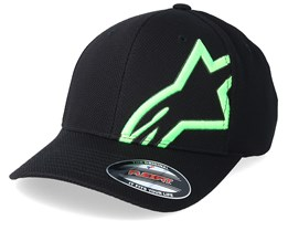 Corp Shift Mock Mesh Black/Green Flexfit - Alpinestars