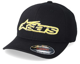 Blaze Mock Mesh Black/Gold Flexfit - Alpinestars