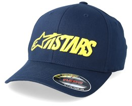 Angle Blaze Navy/Yellow Flexfit - Alpinestars