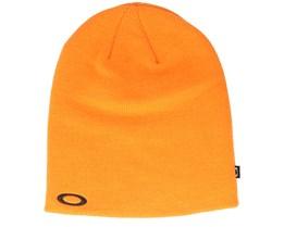 Fine Knit Bold Orange Beanie - Oakley