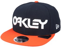 B1b Logo  Black Iris/Orange Snapback - Oakley