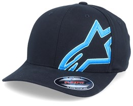 Corp Halo Black/Blue Flexfit - Alpinestars