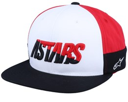 Faster White/Black/Red Snapback - Alpinestars