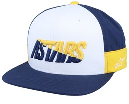 Faster White/Navy/Yellow Snapback - Alpinestars