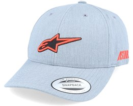 Ageless Popper Hat Grey Heather Adjustable - Alpinestars