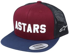 Well Said Burgundy/Black Snapback Trucker - Alpinestars