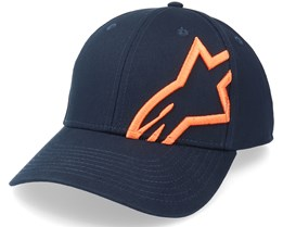 Corp Snap 2 Hat Navy/Orange Adjustable - Alpinestars