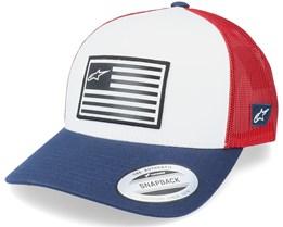 Flag Hat Wht/Navy/Red Trucker - Alpinestars