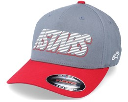 Lanes Hat Charcoal/Red Flexfit - Alpinestars
