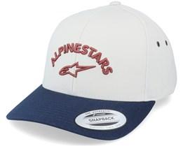 Arced Hat Natural/Navy Adjustable - Alpinestars